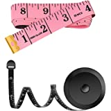 2 Pack 60-Inch Measuring Tape for Body Waist Fabric Tailor Cloth Sewing Knitting Craft Measurement, Fashion Soft Mini Metric