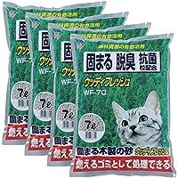 アイリスオーヤマ 猫砂 ウッディフレッシュ 7L×4(まとめ買い)