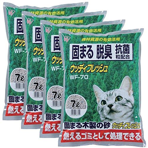 アイリスオーヤマ 猫砂 ウッディフレッシュ 7L×4
