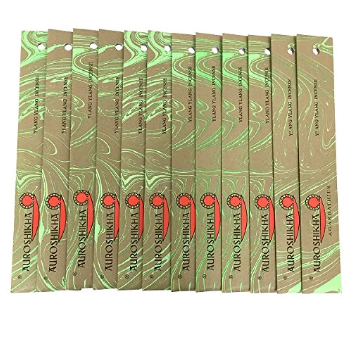 味付け汚い自発AUROSHIKHA オウロシカ(YLANG YLANGイランイラン12個セット) マーブルパッケージスティック 送料無料