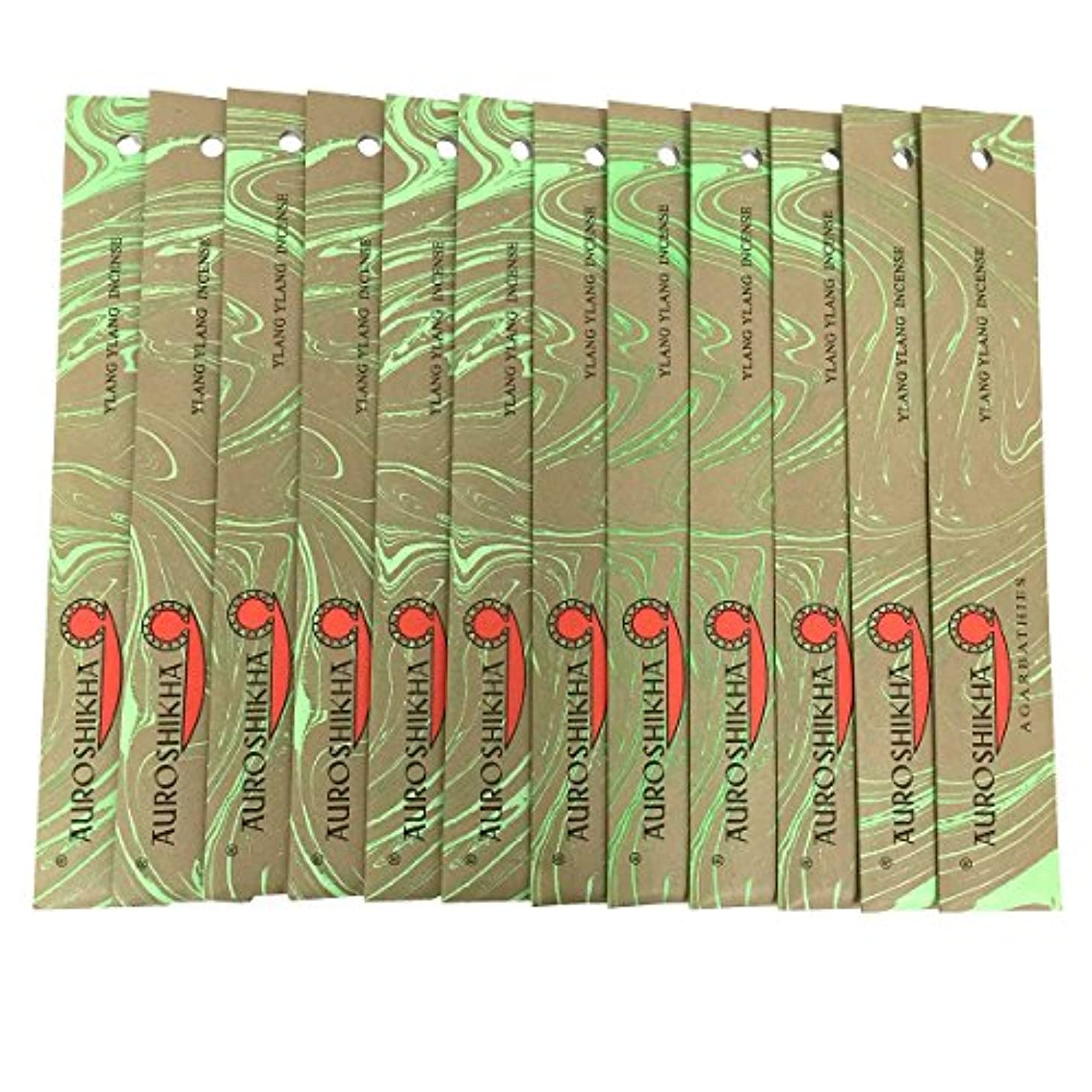 機械いちゃつくコメントAUROSHIKHA オウロシカ(YLANG YLANGイランイラン12個セット) マーブルパッケージスティック 送料無料