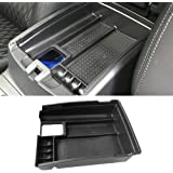 VESUL Center Console Armrest Storage Box Fit for Nissan Rogue 2014-2020 / Rogue Sport 2017-2021 / Murano 2015-2021 ABS Tray I