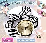 1stモール レディース 腕時計 ボーダー マリン アクセサリー 3色 女性 ファッション プレゼント ST-D026-BK