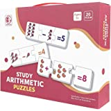 Generic 60 piece Study arithmetic puzzle, Jigsaw puzzles for kids, Montessori math toy, Paper Number puzzle, Early Learning c