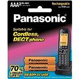 Panasonic DECT Phone Rechargeable AAA Batteries(BK-4LDAW/2BT), 2 Pack