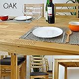 ダイニングテーブルセット 7点 ダイニング7点 テーブル チェア 6人掛け 北欧 無垢材 ウォールナット ASE-173 (オーク)