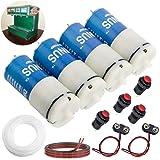 DIMINUS DC 6V Mini Air Pump Motor DIY and Replacement Accessories Best for Aquarium Tank Oxygen Circulate (4 Pack)
