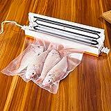 真空パック フードシーラー 真空パックん 家庭用食品乾燥機 強力吸引力 自動 ワンタッチの簡単操作 水分含有食品の保存システム (ホワイト)