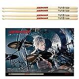 Wincent Drumsticks (Hickory) ドラムスティック W-WSB (山葵/和楽器バンド シグネイチャー) 2ペアセット・ポスター付き