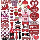 50パックValentines Day Photo Props – Valentines Dayデコレーション – ウェディング、誕生日、ブライダルシャワー、独身パーティーSupplies – Great for Photography