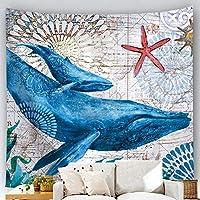 タペストリー 壁デコシール 多機能壁掛け ビーチタオル リビング テーブルクロス カーテン 部屋 海 海亀 セイウチ クジラ インテリア マルチカバー 引っ越し 新居 プレゼント 贈り物