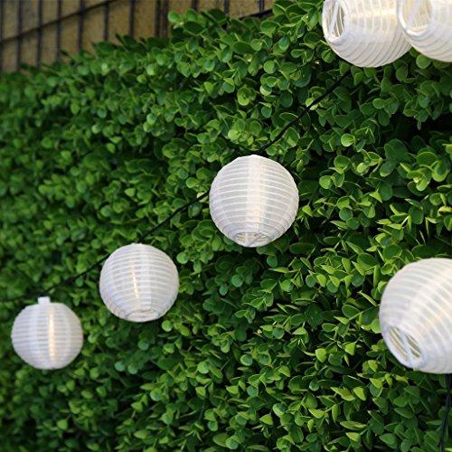 M&T TECH LEDイルミネーションライト ストリングライト ソーラー充電式 光センサー内蔵 防雨防水型 電飾 イルミネーション LED 2点滅モデル クリスマス ライト 飾り付け (20提灯, 電球色)