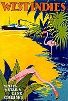 西インド諸島–White Star LineヴィンテージポスターEngland c。1931 16 x 24 Giclee Print LANT-59799-16x24