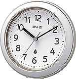 リズム時計工業(Rhythm) 掛け時計 置き時計 防水 防塵 アクアパークDN グレー Φ11.8x4.8cm 4KG711DN08