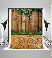 5x 7ft古い木製新しいLeaves壁と床用写真背景写真スタジオ背景ft6741d