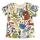 (ビッツ)BIT'Z 動物柄Tシャツ半袖/総柄/プリントT 80 キナリ