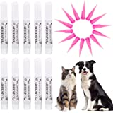 VICTHY 10pcs Special Pet Nail Adhesive Glues & 15pcs Applicator Tips for Dog or Cat Nail Caps