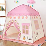 Princess Castle Play Tent Kids Teepee Tent Large Children Playhouse Oxford Fabric Children Playhouse for Indoor Outdoor with