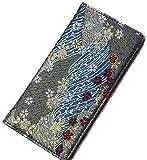 iphone7 8 ケース 和柄で高品質 手帳型 (アイフォン7 8 ケース) 高級品の西陣織り (青金襴)