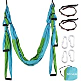 TOYMUM Aerial Yoga Swing - Ultra Strong Antigravity Yoga Hammock/Trapeze/Sling/Inversion Tool for Air Yoga Inversion Exercise