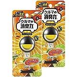 【まとめ買い】 クルマの消臭力 クリップタイプ 消臭芳香剤 クルマ用 クルマ シトラスの香り 3.2ml×2個