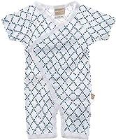 Babyushka Organic Shibori Collection Short Sleeve Kimono Romper, 000