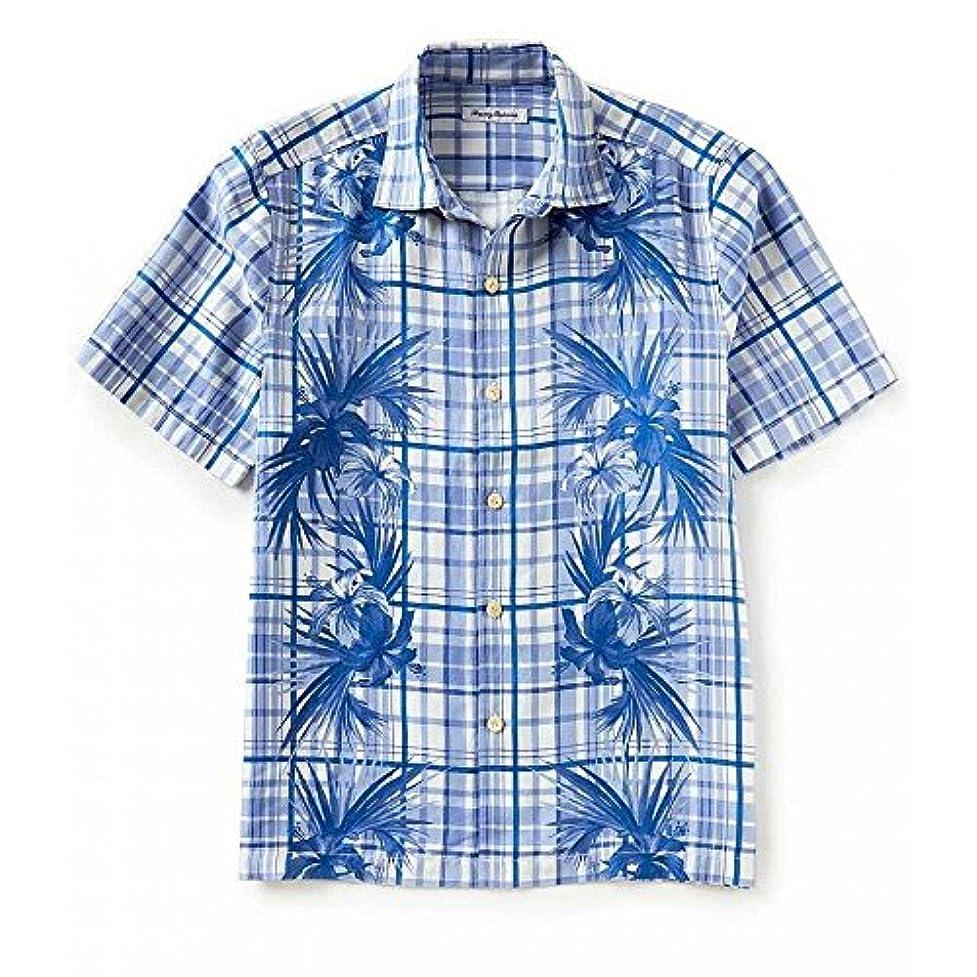 怠惰醜い結婚した(トミー バハマ) Tommy Bahama メンズ トップス 半袖シャツ Lattice Bay Plaid & Floral Print Short-Sleeve Woven Shirt [並行輸入品]