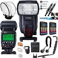 Canonスピードライト600ex ii-rt + deal-expo Essentialアクセサリーバンドル