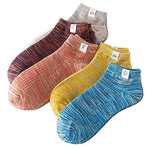 靴下 メンズ ITrustit メンズソックス 抗菌防臭 吸汗吸湿 健康的 くつした 25cm 〜 27cm 5足組 NH01 (#5)