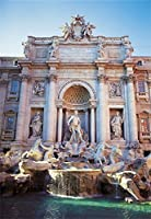 Laeacco  薄型ビニール背景幕 写真背景 トレヴィの泉 バチカン ローマ イタリア 彫刻 建物 ノスタルジック 写真撮影 肖像画 スタジオ ビデオ 写真 撮影備品 5×7フィート 幅1.5×高さ2.2m