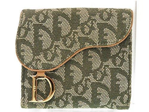 (ディオール) Dior Wホック財布 トロッター 二つ折り財布 キャンバス レディース 0547 中古