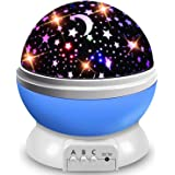 AOCHEN Star Night Light Kids, Baby Music Night Light Projector Rotation LED Night Light Lamp with 8 Colorfull Lights and 12 L
