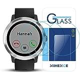 (3枚) (ガーミン) Garmin Vivoactive 3 保護フィルム,MIHENCE 9H ガラス保護フィルム 対応 ガーミン Vivoactive 3 Smartwatchスマート腕時計 2.5Dラウンドエッジ ウォッチ指紋防止保護膜