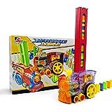 feelingood Domino Rally Electronic Train Model Colorful Toy Set Girl Boy Children Kids Gift