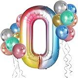 Simpeak 誕生日 バルーン 風船 数字 バルーン HAPPY BIRTHDAY 装飾 華やか おしゃれ バースデー デコレーション 1枚数字バルーン + 24点ラテックス風船