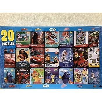 Cardinal 20種類のディズニー ジグソーパズル Desney 20 PUZZLES