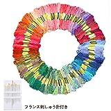 刺しゅう糸 Otrue 刺繍系 100本98色 カラーが豊富できれい! クロスステッチ まとめ買い オリジナルセット フランス刺しゅう針付き