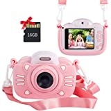 MINIBEAR Kids Digital Camera for Toddler Girls Toy Camera Kids Video Camera, Children Selfie Camera 2.4 Inch IPS Screen Mini