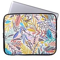 Recaso(レカソ)青緑 珊瑚 ピンク 新しい パステル調 パターン ラップトップスリーブ おしゃれ 12.6/12.8/13/13.3インチ PCケース パソコンケース パソコンカバー ラップトップスリーブ ノートパソコン