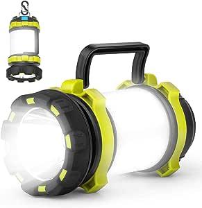 Kimimara LEDランタン 懐中電灯 高輝度 キャンプランタン usb充電式 防水 テントライト 4つ点灯モード SOS赤ラッシュライト モバイルバッテリー機能応急 停電 キャンプ 山登り 夜釣り 緊急 非常用 携帯型