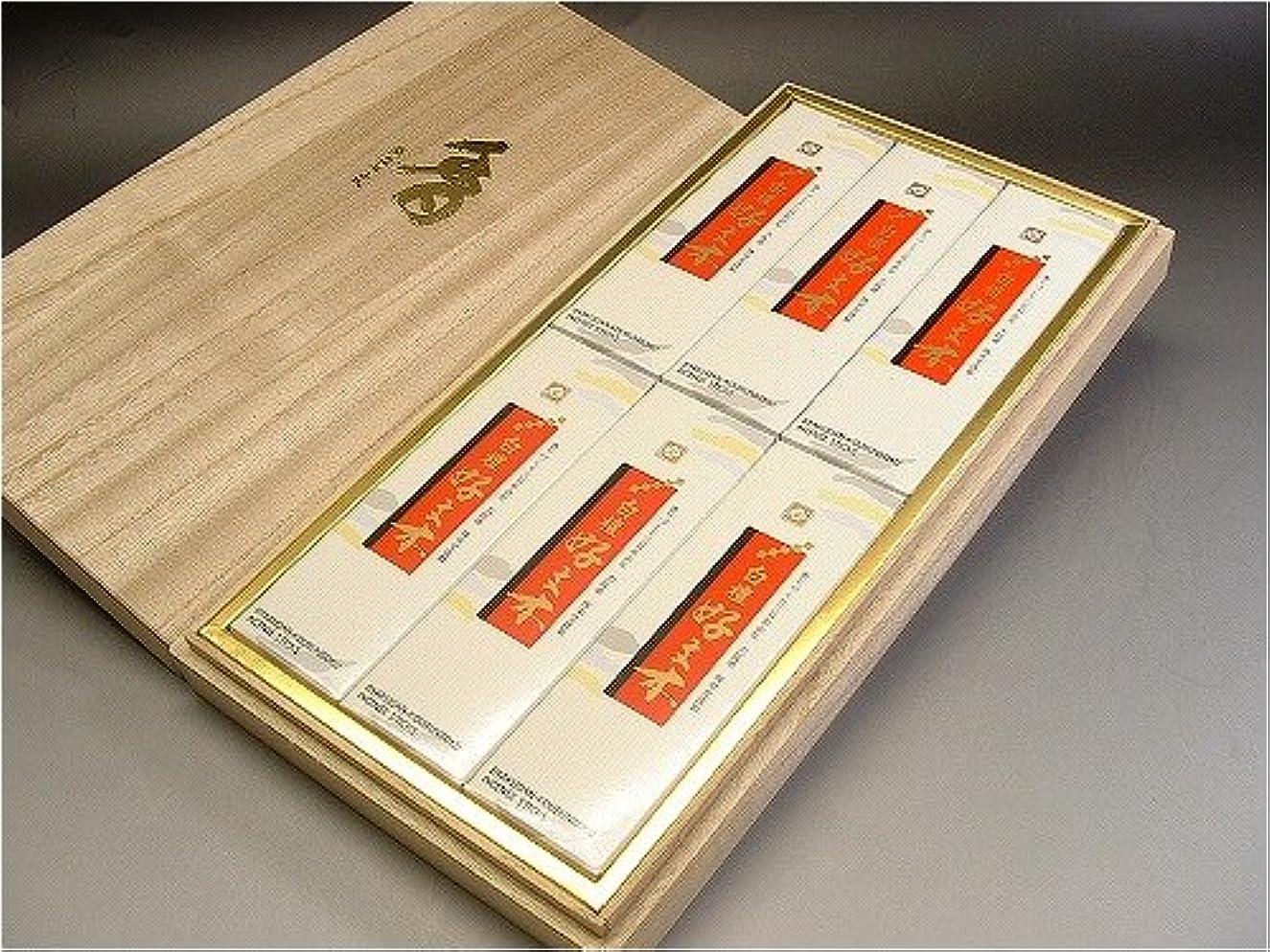 ほとんどないひらめき準備梅栄堂 白檀好文木 ギフト 桐箱6箱入り