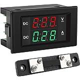 Voltage Current Display, DROK DC 4.5-100V Digital Voltmeter Ammeter Multimeter Panel, 0-50A Volt Tester Meter Amp Detector, L