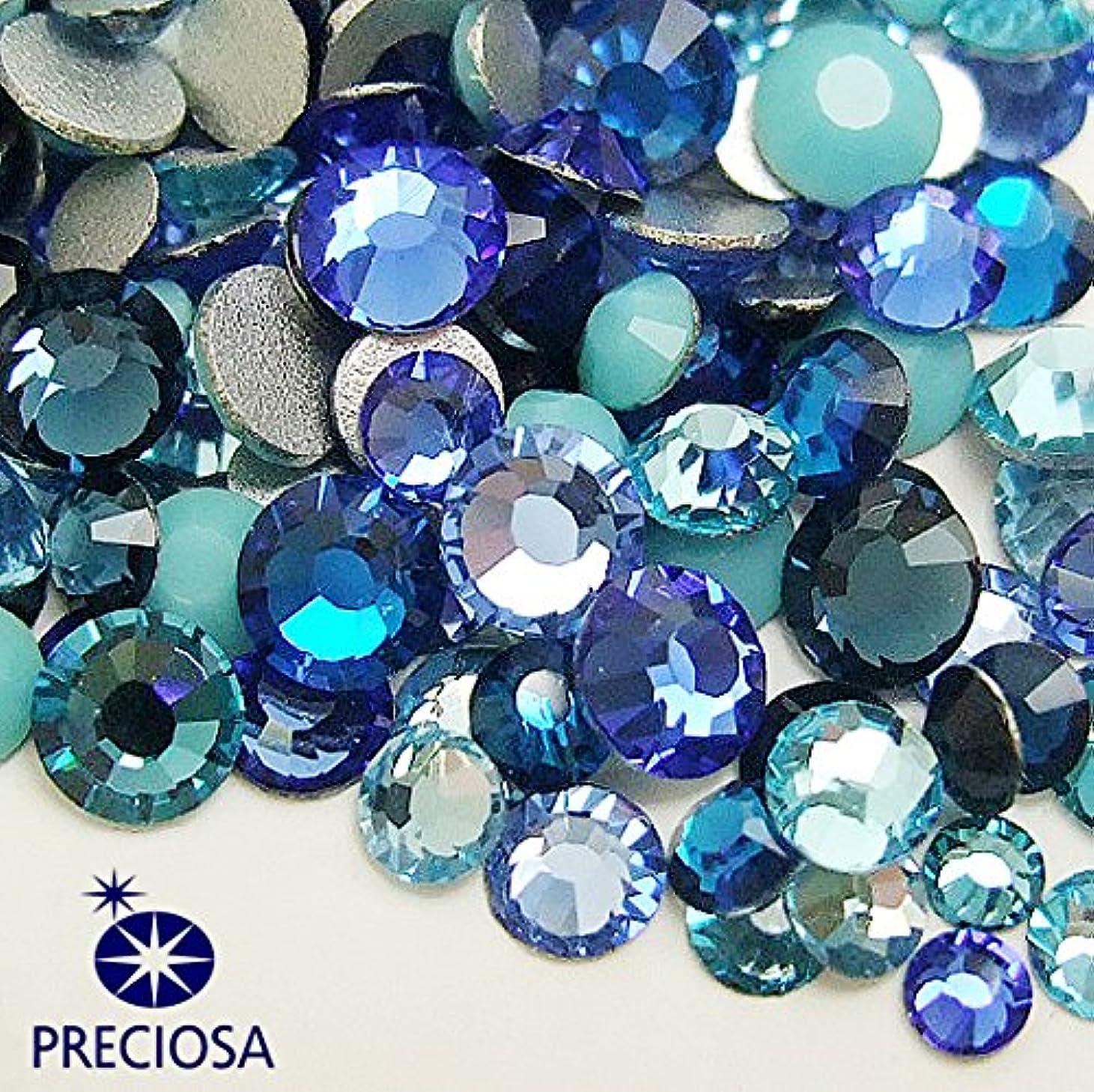 行進カカドゥレビュープレシオサ(PRECIOSA) チェコ製ラインストーン【お試しMIX】 ブルー系 160粒入