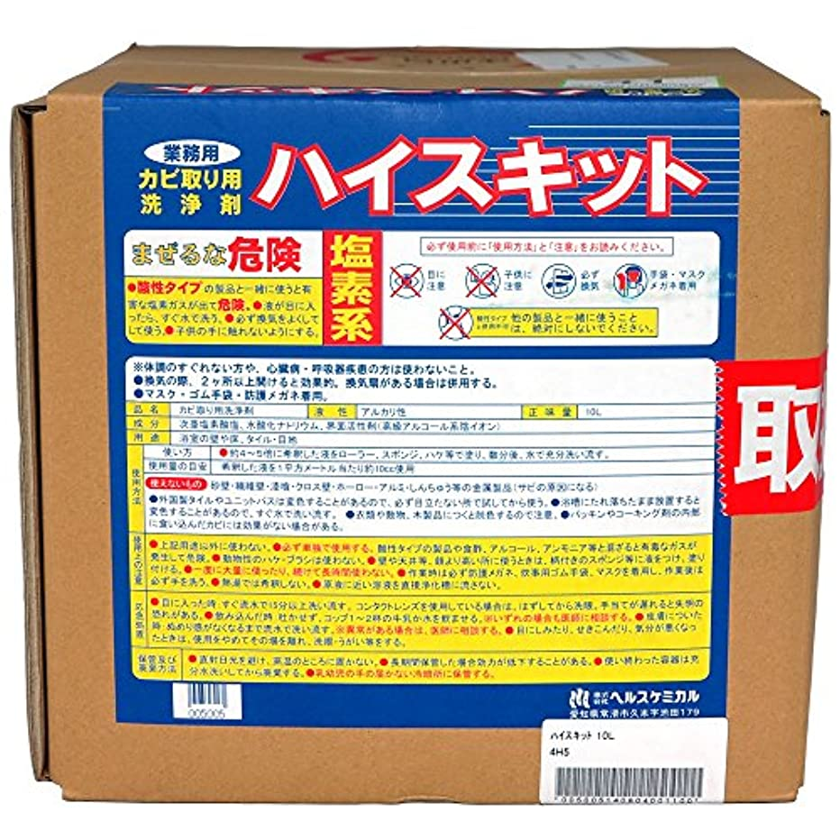 仲良しズームペレグリネーション強力カビ取り剤 ハイスキット 10L【業務用 かびとり】