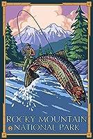 ロッキーマウンテン国立公園–Fisherman 9 x 12 Art Print LANT-20188-9x12