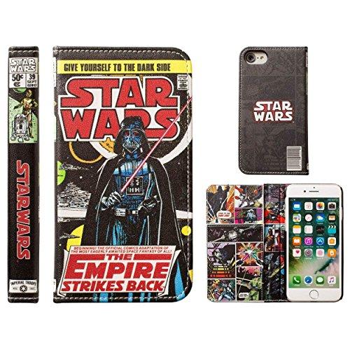 iPhone7 ケース 手帳型 スターウォーズ STAR WARS キャラクター コミックブック カバー / ダース・ベイダー