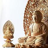 ■注意事項:御仏像は繊細な彫刻で造られており 破損防止の為、いくつかのパーツに分けて発送しております 大変お手数をお掛け致しますが、 到着致しましたら、いくつかの組立及び飾り付けをお願い致します