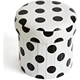 Foldable Storage Ottoman Footrest Faux Leather Toys Organiser for Children Adults Bedroom Living Room Modern Décor by Meri Bu