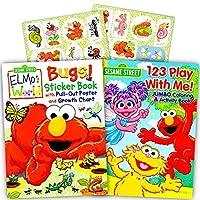 Sesame Street Elmo Coloring Book Set with Stickers (2 Book Set) 【You&Me】 [並行輸入品]