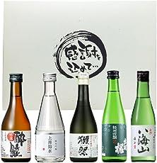 全国清酒飲み比べ 純米吟醸 300ml×5本 純米大吟醸入 上善如水 八海山 酔鯨 出羽桜 獺祭 感謝をこめて